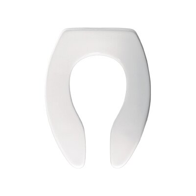 Commercial Elongated Toilet Seat Finish: White