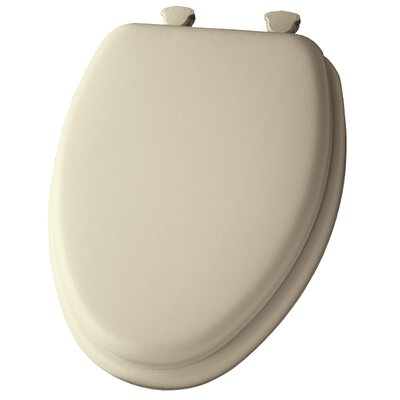 Cushioned Elongated Toilet Seat Finish: Bone