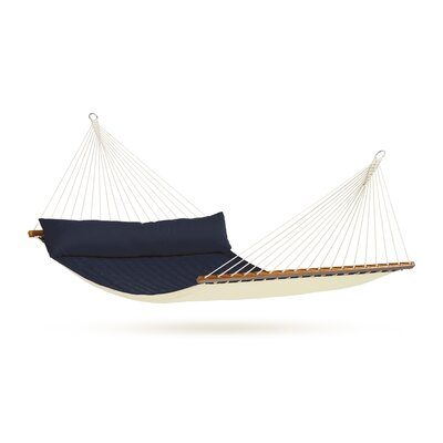 Chillax Olefin Hammock with Stand Size: Double, Color: Navy