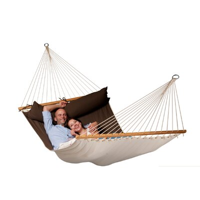 Chillax Olefin Hammock with Stand Size: Double, Color: Arabica