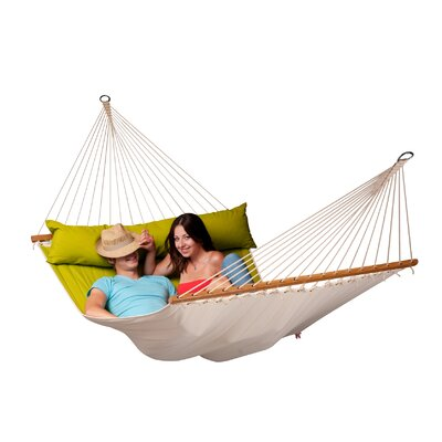 Chillax Olefin Hammock with Stand Color: Avacado, Size: Double