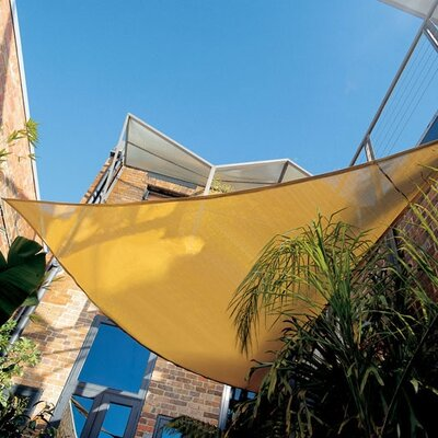 "Coolaroo Premium Triangle Shade Sail Kit - Size: 16'5"", Color: Brunswick Green at Sears.com"