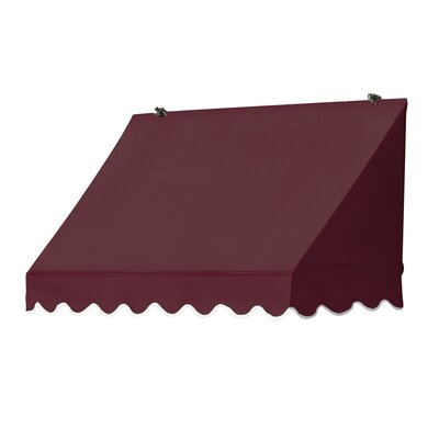 "Coolaroo Traditional Awning Replacement Cover - Size: 48"" W x 25"" D, Color: Burgundy"