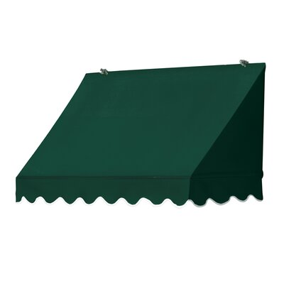 "Coolaroo Traditional Awning Replacement Cover - Size: 48"" W x 25"" D, Color: Forest Green"