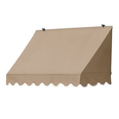 "Coolaroo Traditional Awning Replacement Cover - Size: 48"" W x 25"" D, Color: Sand"
