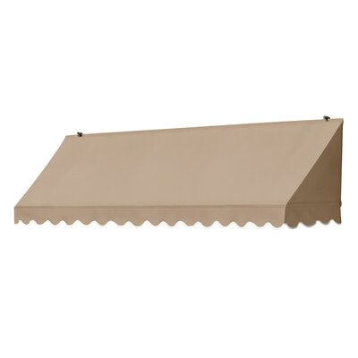 "Coolaroo Traditional Awning Replacement Cover - Size: 96"" W x 25"" D, Color: Sand"