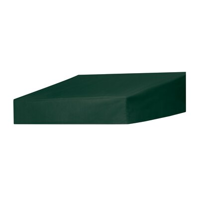 "Coolaroo Classic Door Awning Replacement Cover - Size: 48"" W x 25"" D, Color: Forest Green"