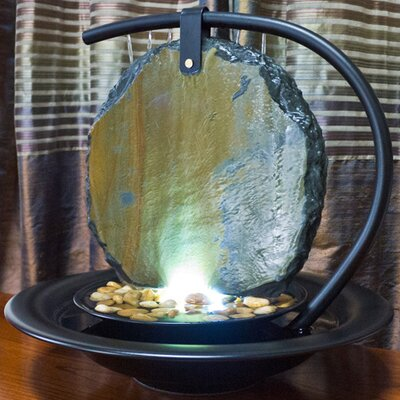 Bluworld Moonshadow Tabletop Fountain With Light