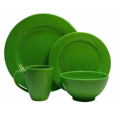 Fun Factory 4 Piece Place Setting Color: Green Apple 7704PC6013