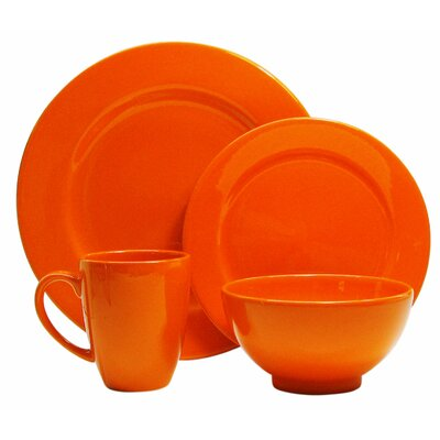 Fun Factory 4 Piece Place Setting Color: Orange