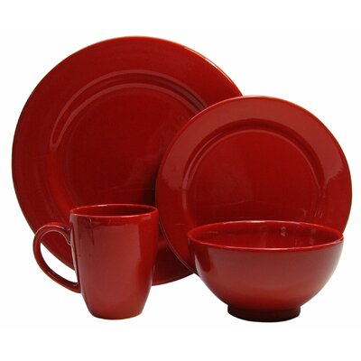 Fun Factory 4 Piece Place Setting Color: Red 7704PC6038