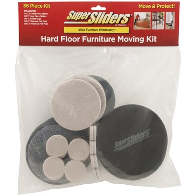 Super 36 Pieces Hard Floor Furniture Moving Kit Sliders Set