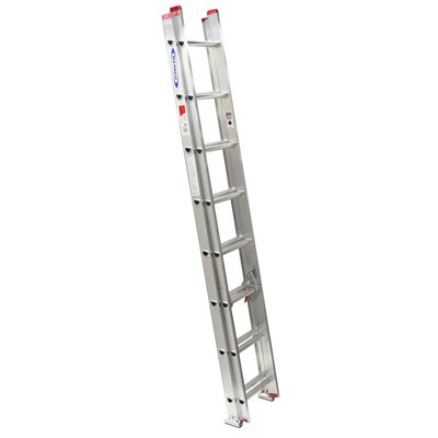 16 ft Aluminum Extension Ladder with 200 lb. Load Capacity D1116-2