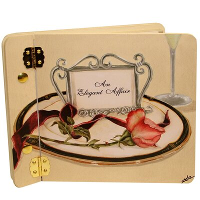 Wedding Table 4 Two Rose Mini Wedding Book Photo Album Color: Cream