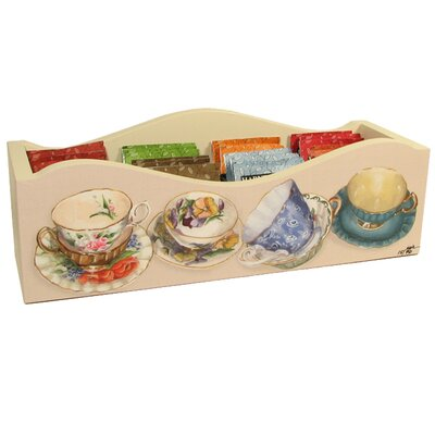 Tea Cups Caddy with Dividers 28004