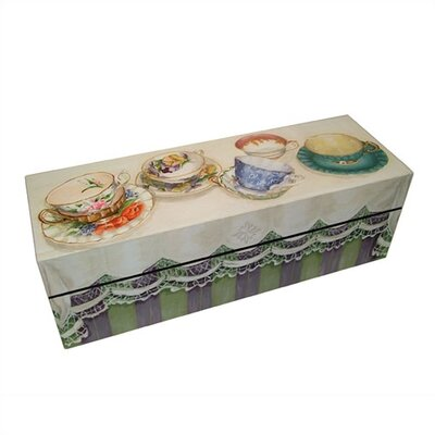 Tea Cups Decorative Storage Box 14006