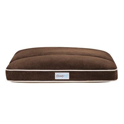 "Beautyrest Napper Dog Pillow Size: Large (44"" L x 35"" W), Color: Chocolate"