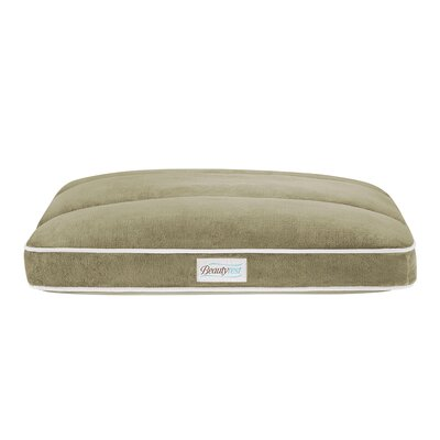 """Beautyrest Napper Dog Pillow Size: Small (36"""" L x 27"""" W), Color: Silver Green"""