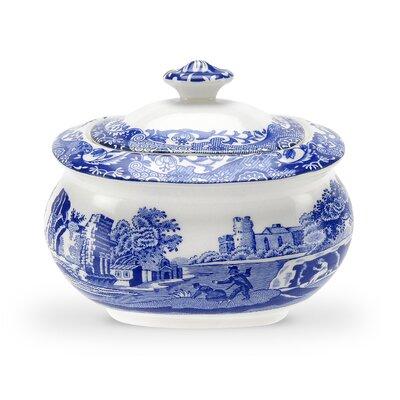 Blue Italian 9 oz. Sugar Bowl with Lid 1532931
