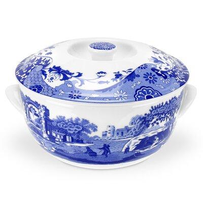 Blue Italian Covered Vegetable Bowl 1612657