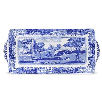 Blue Italian Sandwich Rectangular Serving Tray 1532849
