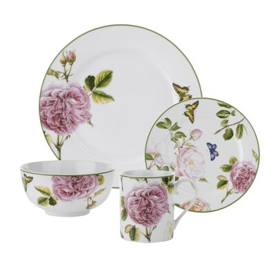 Roses 16 Piece Dinnerware Set, Service for 4 1611597