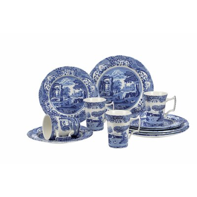 Blue Italian 12 Piece Dinnerware Set, Service for 4 1646858