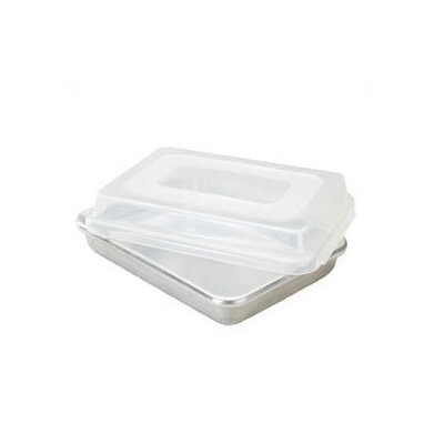 Natural Commercial 13 Rectangular Cake Pan With Lid
