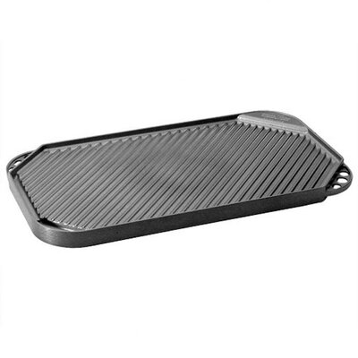 "Nordic Ware Pro Cast Traditions 19"" x 11"" Nonstick Reversible Grill Pan and Griddle 19462"