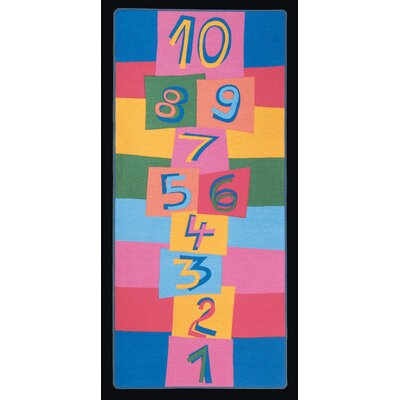 Hip Hop Hopscotch Kids Indoor/Outdoor Area Rug Rug Size: Rectangle 3 x 68