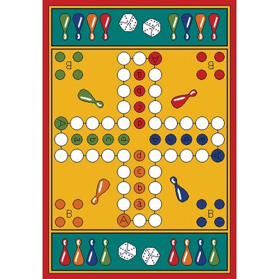 Play Carpet Parcheesi Kids Indoor/Outdoor Area Rug Rug Size: Rectangle 3 x 44