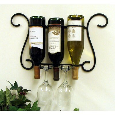 Birmingham 3 Bottle Wall Mounted Wine Rack