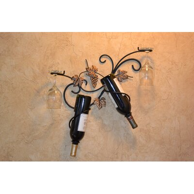 Wildman 2 Bottle Wall Mounted Wine Rack