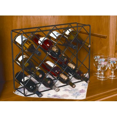 18 Bottle Tabletop Wine Rack