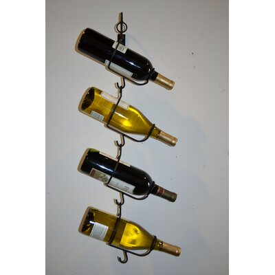 4 Bottle Wall Mounted Wine Rack