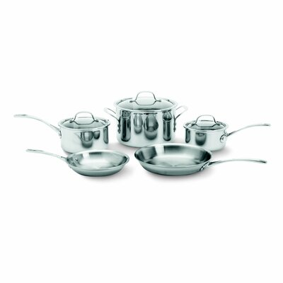 Tri-Ply Stainless Steel 8 Piece Cookware Set