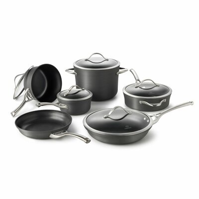 Contemporary Nonstick 11 Piece Cookware Set