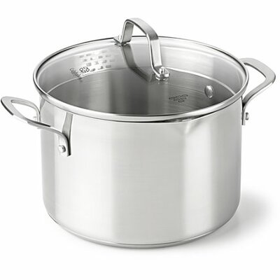 Classic Stainless Steel Stock Pot Size: 6 Qt.
