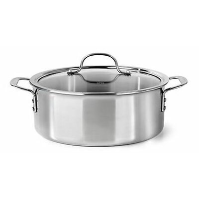 5 Qt. Tri-ply Stainless Steel Round Dutch Oven
