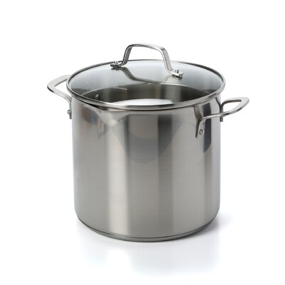 Classic Stainless Steel Stock Pot Size: 8 Qt.