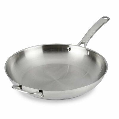 Stainless Steel Frying Pan Size: 12 Diameter
