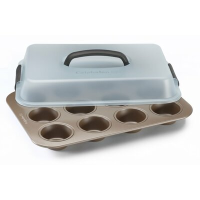 Simply 12 Cup Non-Stick Covered Muffin Pan