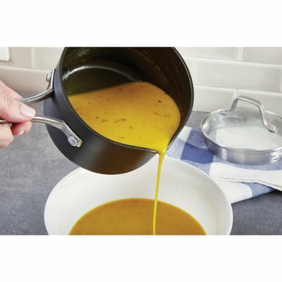 2.5-qt. Non-Stick Saucepan with Lid (Set of 2)