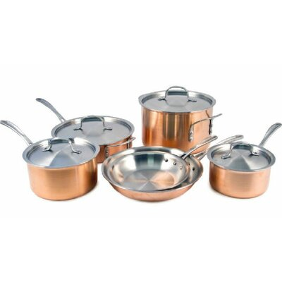 3-Ply Copper 10-Piece Cookware Set