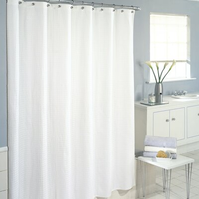 Maddox 100% Cotton Waffle Cotton Shower Curtain