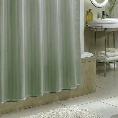 Darmstadt Damask Stripe Shower Curtain Liner Color: Sage