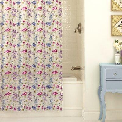 Tasia PEVA Les Fleur Shower Curtain