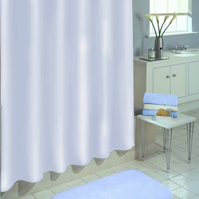 Vinyl Shower Curtain Liner Color: White