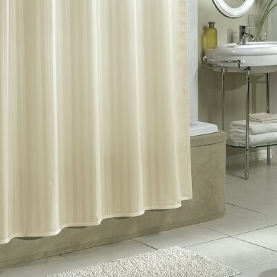 Darmstadt Damask Stripe Shower Curtain Liner Color: Champagne
