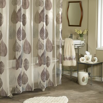 Pick City Gossamer Leaf Shower Curtain
